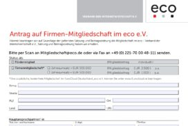 Application Form eco e.V.