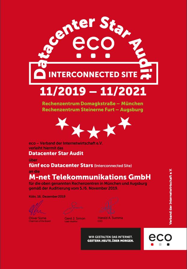 RZ Domagkstraße + RZ Steinerne Furt – M-net Telekommunikations GmbH