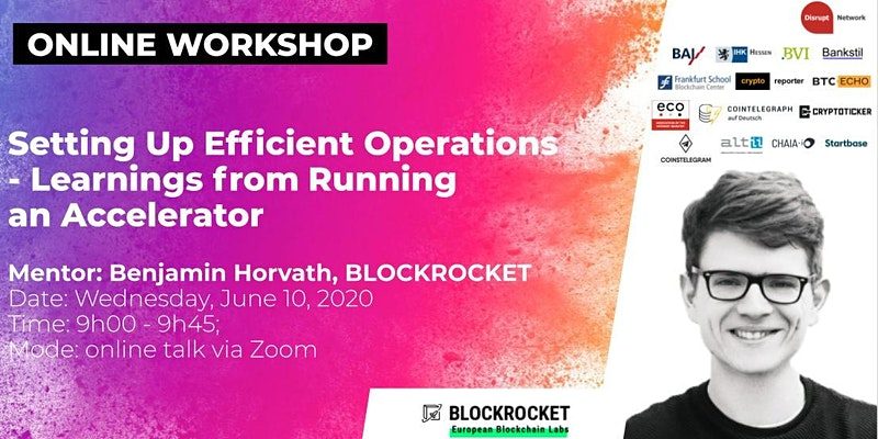 Setting up Efficient Operations - Learnings from Running an Accelerator