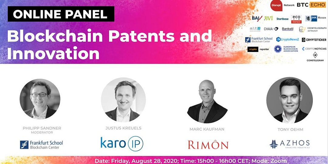 Online Panel: Blockchain Patents and Innovation