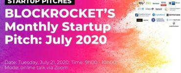 BLOCKROCKET's Monthly Startup Pitch: July 2020