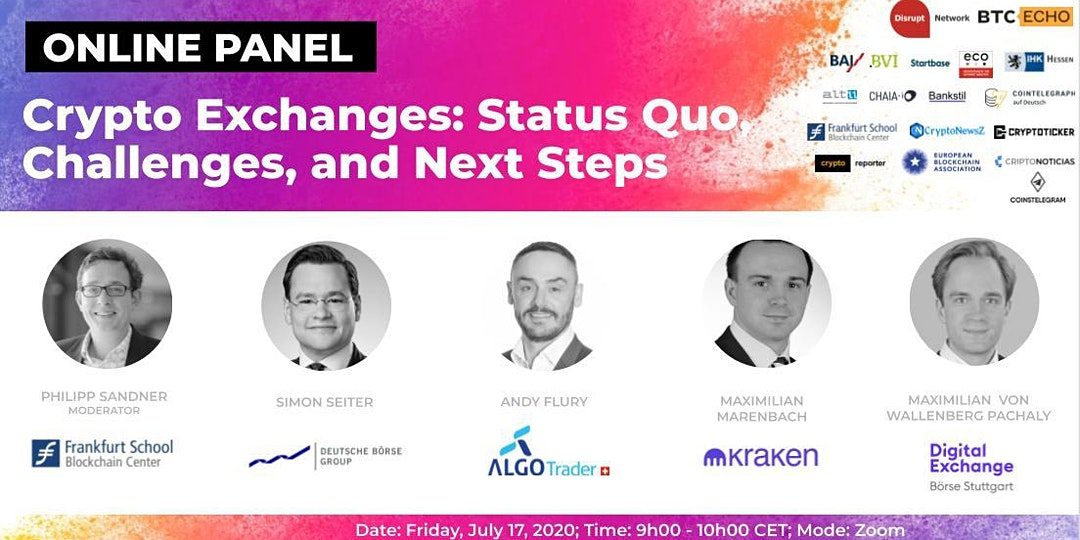 Online Panel: Crypto Exchanges - Status Quo, Challenges and Next Steps