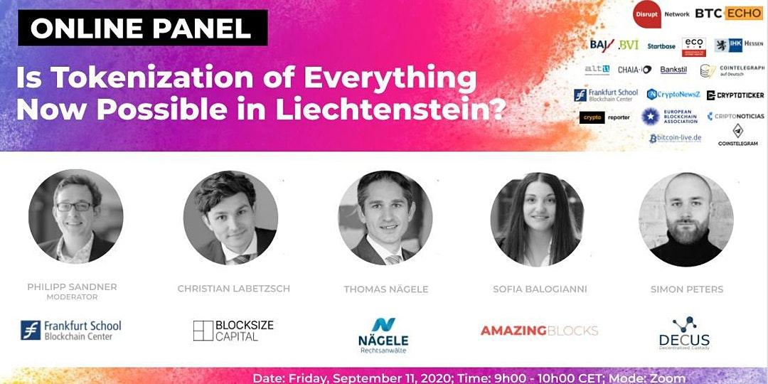 Online Panel: Is Tokenization of Everything Now Possible in Liechtenstein?