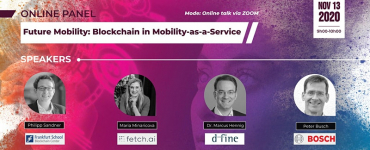 Online Panel: Future Mobility - Blockchain in Mobility-as-a-Service