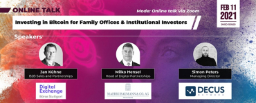 Investing in Bitcoin for Family Offices & Institutional Investors