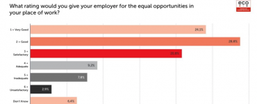 eco Survey on Equal Opportunities in the Workplace: Men give better ratings than women